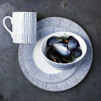 Hand-Painted Dotted Dinnerware Set