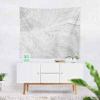 Marble Tapestry, White Tapestry, Marble Wall Hanging, Marble Wall Art, Marble Wall Tapestry, Neutral Wall Tapestry, Black White Tapestry