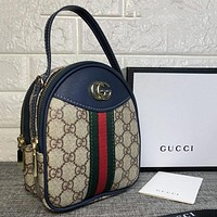 Gucci Women Fashion Leather Satchel Shoulder Bag Handbag Backpack