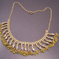 Delicate Sunny Yellow Youth Dance Party Necklace