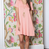 Smiple Plain T Shirt Dress