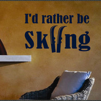 Vinyl Wall Lettering Skiing Sports Quote Decal by WallsThatTalk