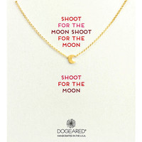 Dogeared Gold-Tone Moon Glow Necklace