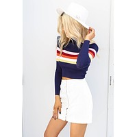 Remember This Ivory Corduroy Button Mini Skirt