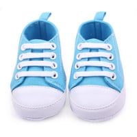 Hot Sale Soft Infant Newborn Baby Boy Girl Kid Soft Sole Shoes Sneaker Newborn Shoes 0-12Months