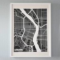 Printed Map of Portland — barrettadair's Collection