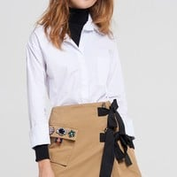 Karen High Neck Layered Shirt Discover the latest fashion trends online at storets.com