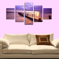 5 Panels Sea View Picture Canvas Print Painting Wall Art Canvas Painting For Home Decor Artwork