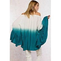 Turquoise Ombre Tunic Top