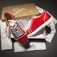 Christian Louboutin CL Low Style #2079 Sneakers Fashion Shoes Best Deal Online