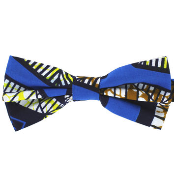 Tok Tok Designs Baby Bow Tie for 14 Months or Up (BK385, Genuine African Wax Fabric)
