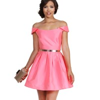 Promo-pink Life Of The Party Dress