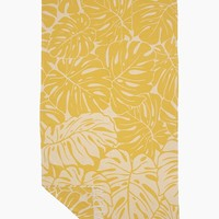 Tarovine Turkish Towel - Tarovine Yellow Tropical Print