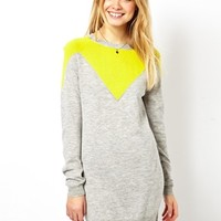 ASOS Sweater Dress With V Detail