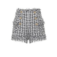 Bouclé tweed shorts