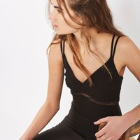 Mesh Insert Bodycon Dress - New In Fashion - New In