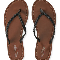 Aeropostale  Braided Faux Leather Flip-Flop