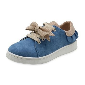 Kids Girls shoes spring autumn girls sneaker with Bow fashion children PU sneakers for toddler girls causal shoes