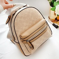 COACH High Quality Stylish Women Casual School Bag Leather Backpack Bookbag
