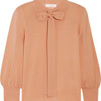 Chloé - Pussy-bow wool sweater