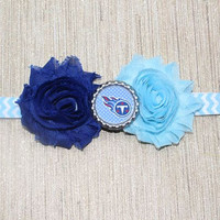 NFL Tennessee Titans inspired headband- perfect for football season! Tennessee Titans Baby Headband