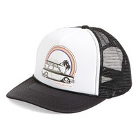 Junior Women's Rip Curl 'Surf Check' Trucker Hat - Black
