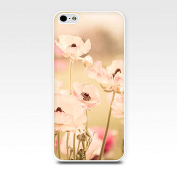 floral iphone case 5s iphone 6 case nature iphone case 4s flowers iphone case 5 girly iphone case 4 fine art iphone case beige pink pastel