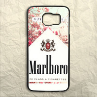 Red Leaf Flower Marlboro Samsung Galaxy S6 Case