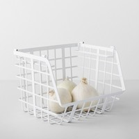 Open Front Stackable Basket White - Made By Design™