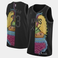 KAWS x Jordan x NBA Black Jerseys - Best Deal Online