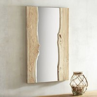 Shipwrecked 25x40 Wood Framed Mirror