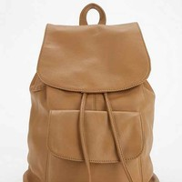 BDG Kelly Leather Backpack- Light Brown One