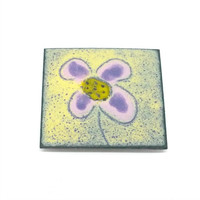Enamel Greetings Card Flower Card In Sympathy Card All Occasions Card