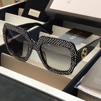 Gucci Sunglasses Sunglasses studded with bright diamond Biling