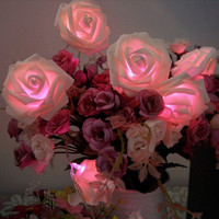 20 LED 3 Colors Rose Flower String Lights Fairy Party Wedding Garden Christmas Decoration = 1932687172