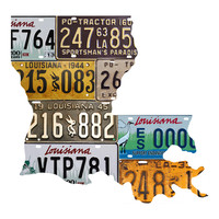 Louisiana License Plate wall decal