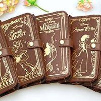 Disney Cinderella Old Book Leather Case for iPhone6 from Japan