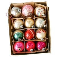 1960s Christmas Holiday Ornaments, S/12