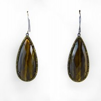 Susan Hanover Brown Drop Earrings with Crystals - Accessories - Just In - SinnStyle.com