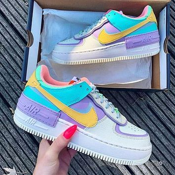 NIKE Air force AF1 shadow men's and women's color-blocking low-top sneakers shoes