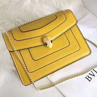 Bvlgari sells shopping bag in fashionable lady's pure color with snake pattern on one shoulder #4