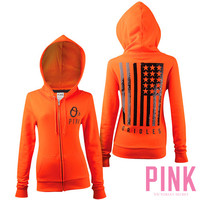 Baltimore Orioles Victoria's Secret PINK® Full Zip Flag Hood - MLB.com Shop