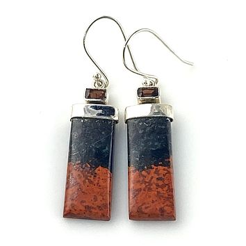 Sonora Sunrise & Garnet Sterling Silver Earrings