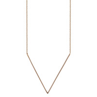 V Necklace: Rose or Yellow Gold - A+R Store