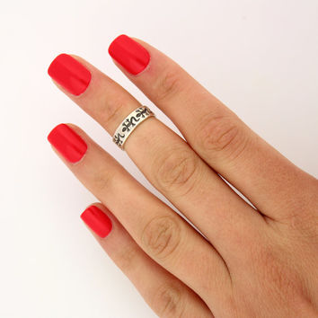 sterling silver knuckle ring  Lizard design above knuckle ring adjustable midi ring (T-60) Also Toe ring