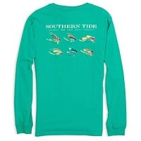 On The Fly Long Sleeve Tee in Abalone by Southern Tide