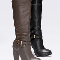 Quilted Chunky-heel Boot