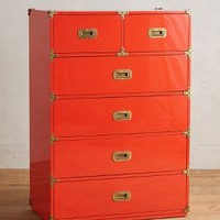 Lacquered Wellington Six-Drawer Dresser by Anthropologie in Red Size: 6 Drawer Dresses
