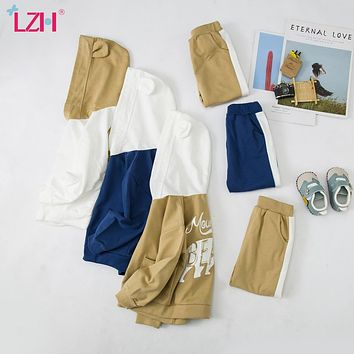 LZH Infant Clothing Sets Baby Suit 2021 Autumn Winter Clothes For Newborn Baby Boys Clothes Hoodie+Pant 2pcs Outfit Kids Costume