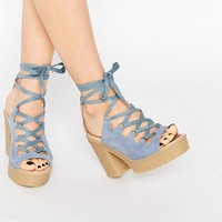 ASOS | ASOS TOYA Lace Up Chunky Sandals at ASOS